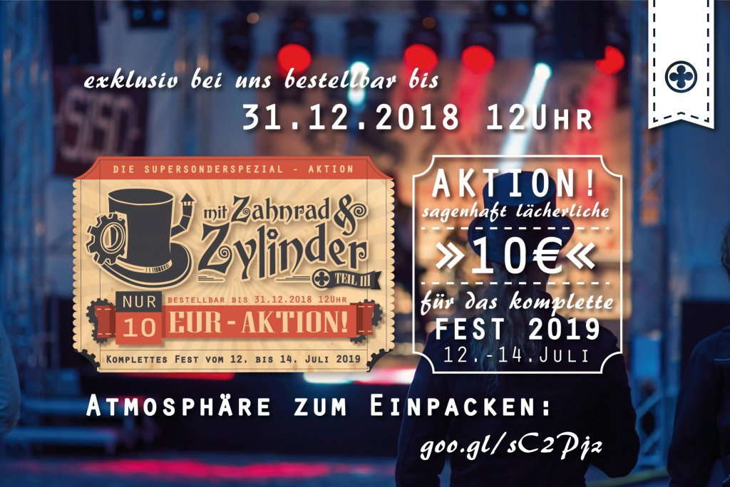 TICKET-AKTION: Vorvorverkauf 2019